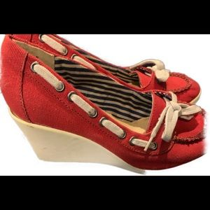 Red BC wedge Shoes